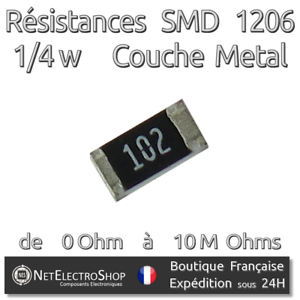 Lot de 20 Résistances 360 Ohms 50 ou 100pcs 360R Couche Métal 1//4W 1/%
