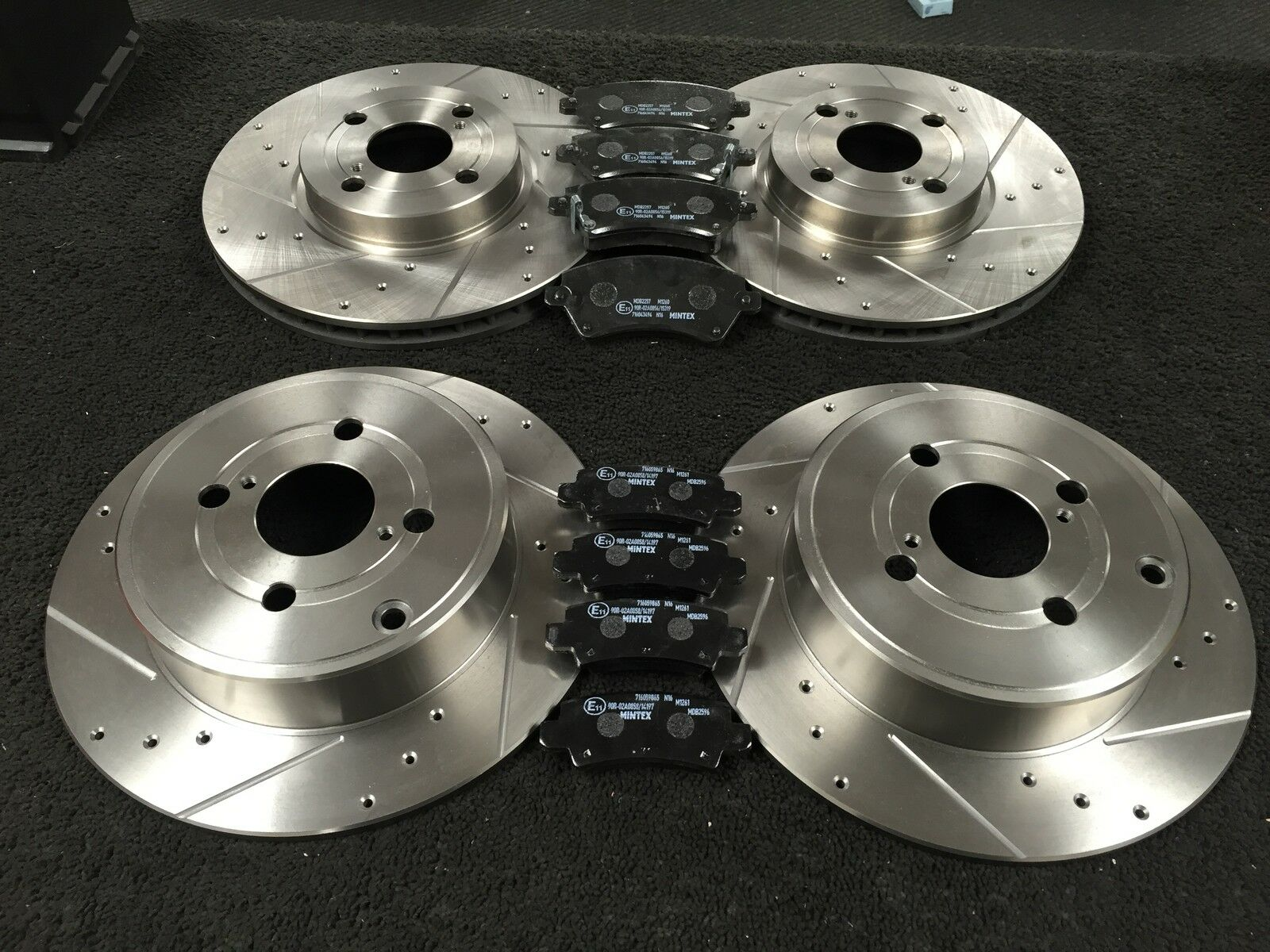 Corolla T-Sport DRILLED GROOVED BRAKE DISCS Front Rear