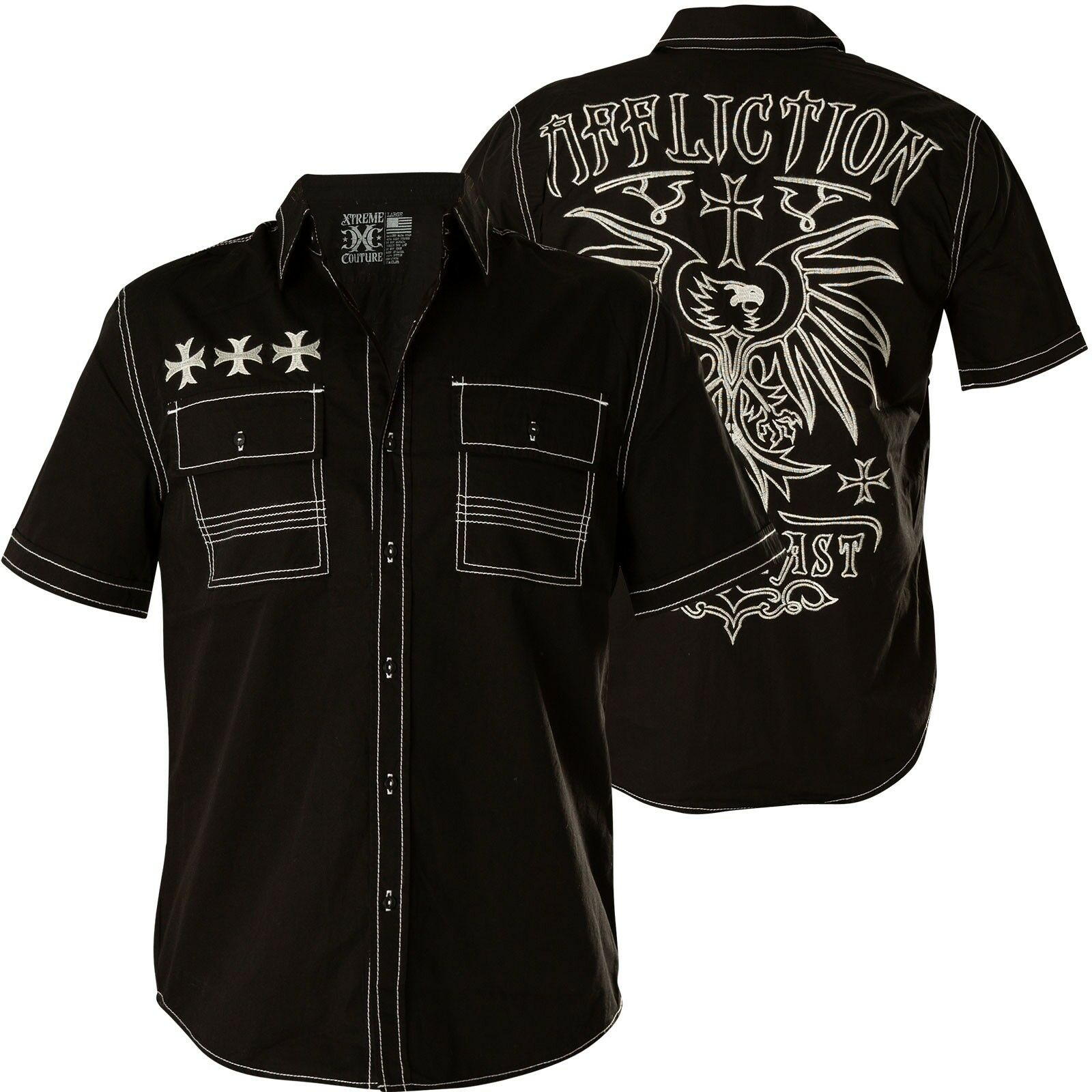 Affliction Camicia ruminate NERO Camicie