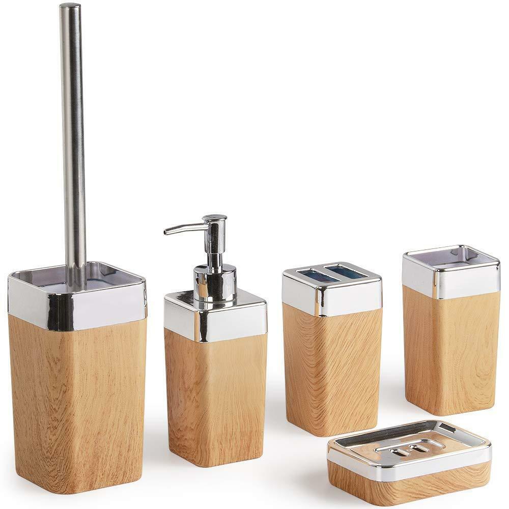 Bad Bad Bad Accessoires Badezimmer Zubehör Set Badgarnitur 6tlg. Seifenspender WC Bürste e3328c