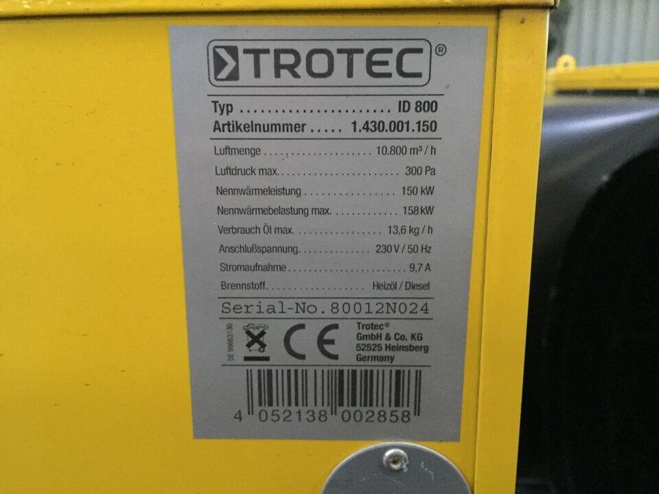 Trotec ID 800 Varmekanon