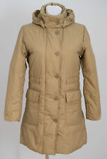 WOMEN UNITED COLORS OF BENETTON JACKET DOWN PADDED BEIGE LOOSE SIZE S SMALL