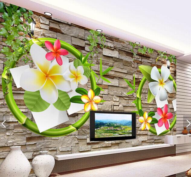 3D Cartoon Farbe Wreath Paper Wall Print Wall Decal Wall Deco Indoor Murals