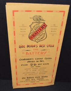 Old Bicycle Sales Brochure for ' Battery Cycle Works ' Plymouth Devon.