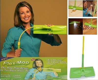 FLEX MOP BENDABLE WET FLOOR CLEANER SWEEPER CLEANING DUSTER KIT WITH LED LIGHT