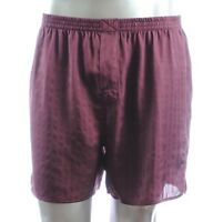 32$ Murano Men Sleepwear Silk Satin Shorts Pajama Pants Burgundy Boxer M, L, Xl