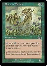 PRIEST OF TITANIA Urza's Saga MTG Green Creature — Elf Druid Com