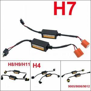 2X-H7-LED-Canbus-Error-Free-Resistor-Headlight-Anti-Flicker-Canceller-Decoder-UK