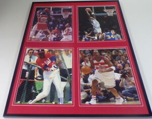 Michael-Jordan-Framed-18x24-Career-Photo-Display-UNC-Bulls-White-Sox-Bullets