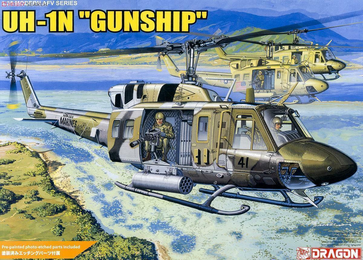 Dragon 3540 1 35 UH-1N Gunship Helicopter