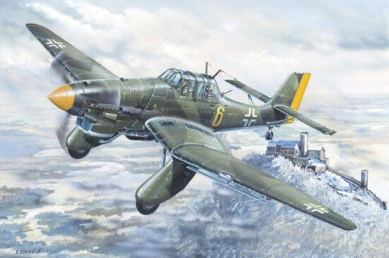 Junkers Ju-87a Stuka Stuka Stuka 1 24 Plastic Model Kit TRUMPETER 4f8252