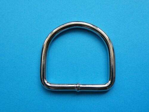 """50mm 2/"""" Welded D Dee Ring Nickel Nickle Plated Heavy Duty Rings Belt Handbag"""
