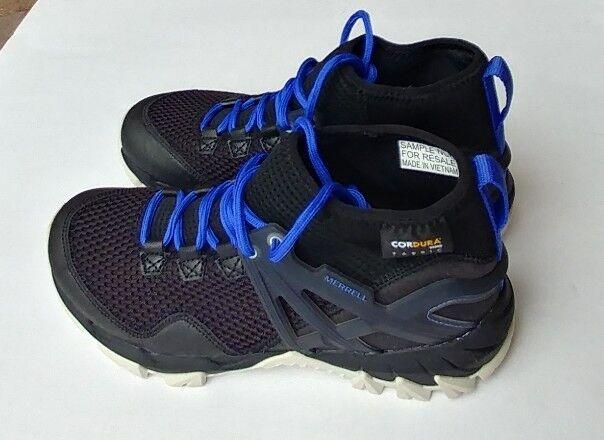 Merrell Womens Mom Flush Flex Black, blue & white Hiking sneaker Shoes Size 7