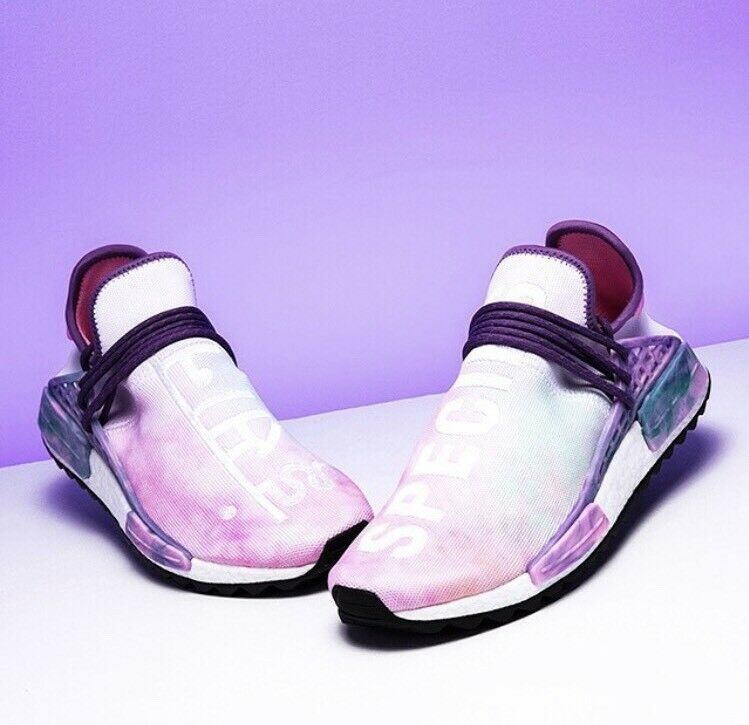 Adidas Pharrell Williams HU NMD Holi Powder Dye Pink Glow Size 9.5 AC7362 black