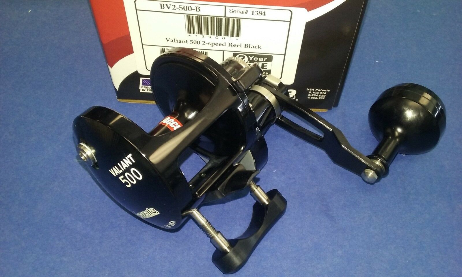 New Accurate Boss Valiant BV2-500B Two Speed Reel