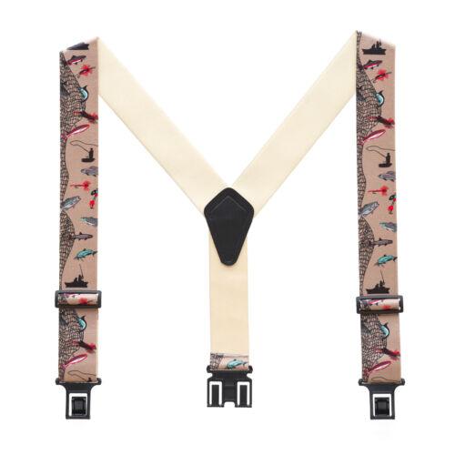 New Perry Suspenders Mens Elastic Hook End Fisherman Suspenders Reg /& Tall