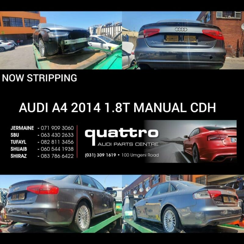 AUDI A4 B8 1.8T MANUAL FACELIFT STRIPPING FOR SPARES
