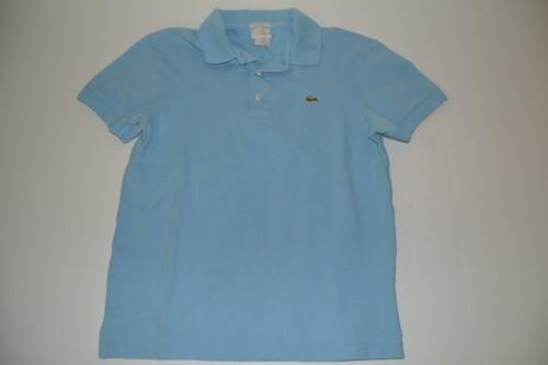 LACOSTE SERE LIMITEE GOLD BLUE POLO SHIRT WOMENS S