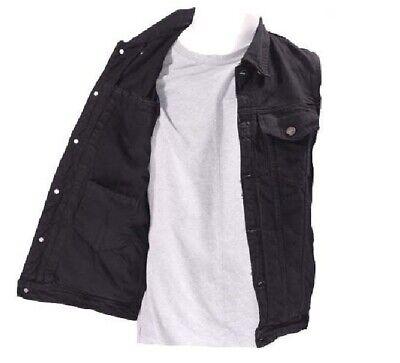 Denim Styling w// Inside Gun Pockets Men/'s Distressed Grey Motorcycle Shirt