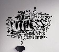 Fitness Gym Wall Vinyl Decal Sticker Sport World Cloud Motivational Decor (5f1t)