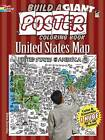 Build a Giant Poster Coloring Book - United States Map by Diana Zourelias (Paperback, 2013)