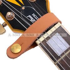 Acoustic Guitar Neck Strap Button Hook Extender PU Leather Orange