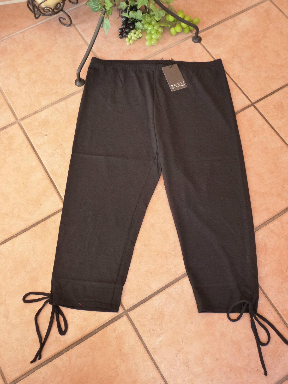 BORIS INDUSTRIES 7 8 Leggings 50 52 54 (5) NEU black Bänder LAGENLOOK Stretch