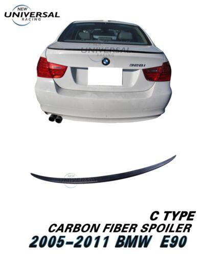 Carbon Fiber Rear Trunk Spoiler Lip for 05-11 BMW E90 3 Series M3 Sedan Type C