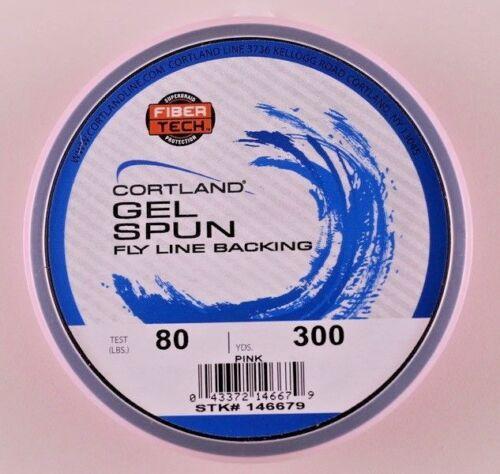 Cortland Gel Spun Fly Line Backing 300 yards 80 pound BLUE PINK WHITE YELLOW