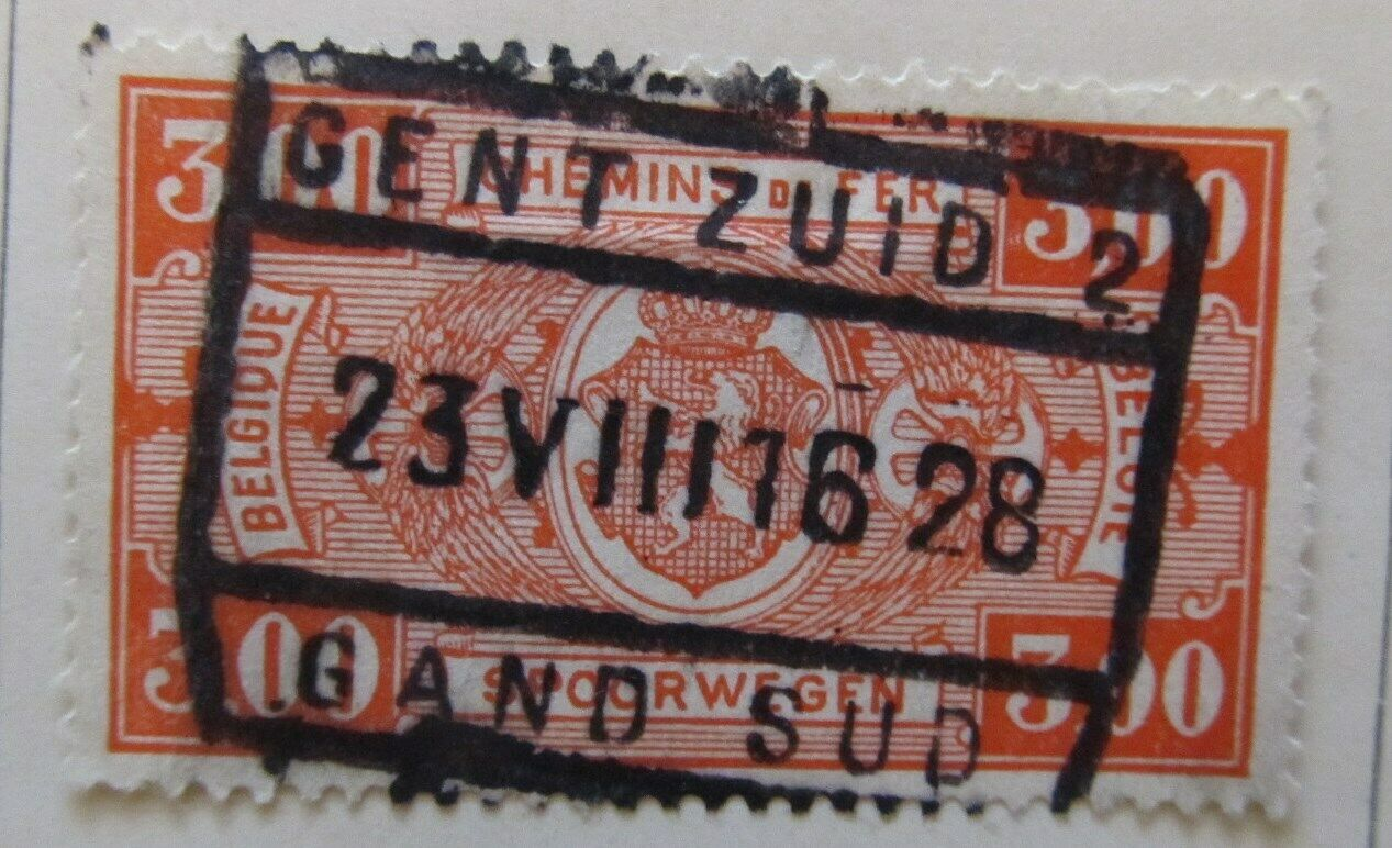 A6P18F133 Belgium Parcel Post and Railway Stamp 1923-24 3fr used