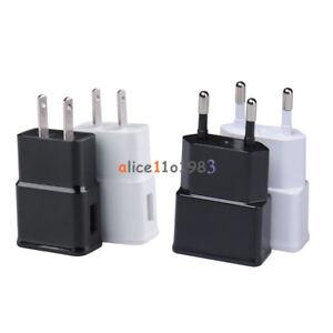 White-Black-5V-2A-US-EU-Plug-1-Port-USB-Wall-Charger-Fast-Power-Adapter-Travel