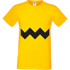 Charlie-Brown-T-Shirt-Mens-Kids-Childrens-Peanut-Snoopy-Cartoon