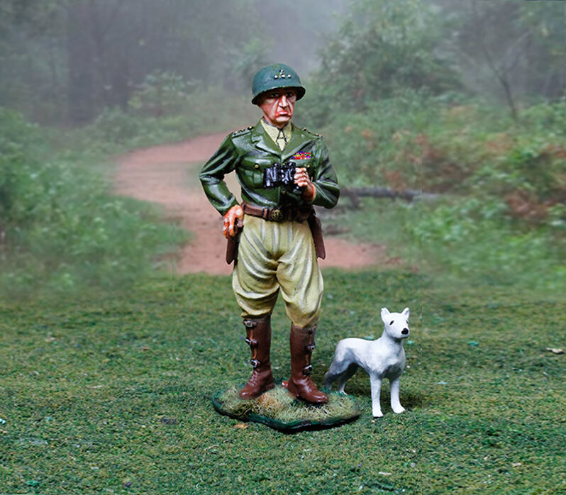 Sammler Schaufenster WW2 Amerikanische Normandie CS00887 Patton mit Willy MIB