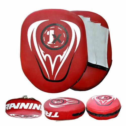 Bambini Boxe Focus Pads Gancio E Jab combattere la formazione Punch Guanti MMA in palestra.