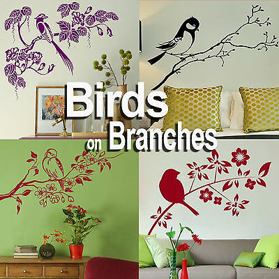 Tree Branch Decal Decor Stencil Branches Wall Stickers Home Transfer Graphic