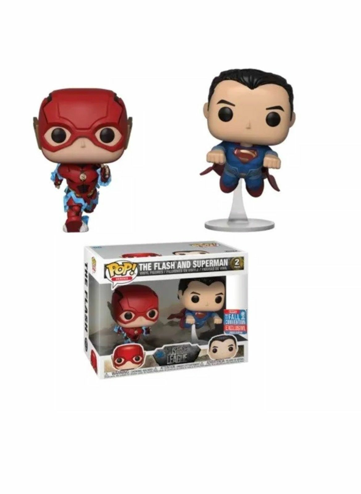 The Flash & Superman NYCC 2018 EXCLUSIVE FUNKO Pop Vinyl Figure (IN HAND)