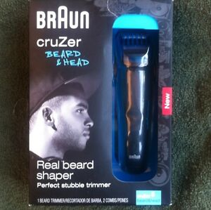 braun cruzer 5 beard head trimmer shaper shaver 2 in 1 ebay. Black Bedroom Furniture Sets. Home Design Ideas