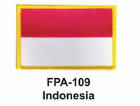 2-1/2'' X 3-1/2 Indonesia Flag Embroidered Patch