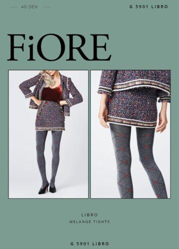 FIORE Libro Luxury Super Fine 40 Denier Decorative Melange Patterned Tights