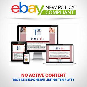 Ebay Store Shop Listing Template Html Mobile Responsive Design 2019 Compliant Ebay