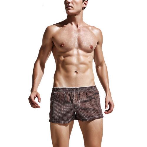 Mens Bulge Pouch Boxers Trunks Briefs Comfortable Underwear Shorts Plaid Panties