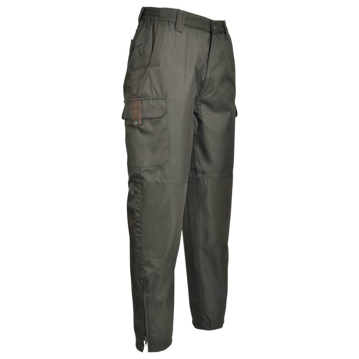 1029 Percussion Optimum Hunting Trousers Waterproof Olive Green Rip Stop Knee