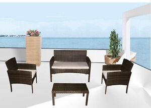 Divano rattan marrone salotto arredo giardino design for Arredo giardino cuscini