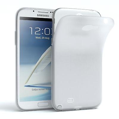 Schutz Hülle für Samsung Galaxy Note 2 Cover Handy Case Matt Transparent