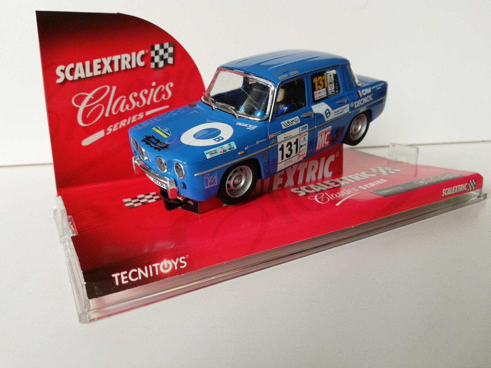 Slot SCX Scalextric 6379 Renault 8 TS  Bleu  Classics Series N°131