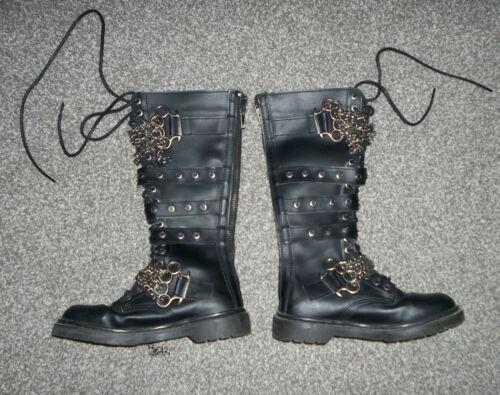 "Demonia ""Defiant-402"" Black  Leather Soft Toe Boot"