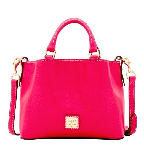 NWT Dooney & Bourke Mini Barlow Leather Crossbody Bag Leather Hot Pink New $228
