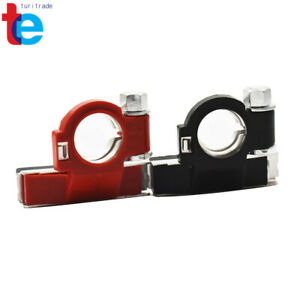 Two-Battery-Terminal-Connector-Top-Post-Positive-Negative-Heavy-Duty-Universal