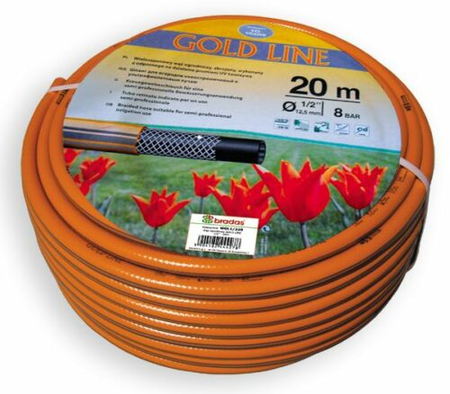 """3//4 /"""" Inch Sold by the metre Quality seed LINE Garden hose Water hose GOLD"""