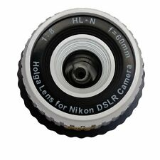 AU - Holga HL-N 60mm f/8 Toy Lens for Nikon Digital DSLR Camera White